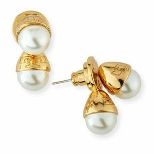 - New Tory Burch pearl drop earrings